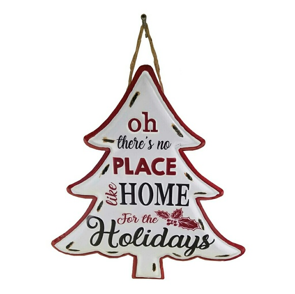 Other - Home for the Holidays Metal Tree Hanging Decor